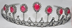 Tiara Online 4.50 Ct Certified Diamond Ruby Sterling Silver Antique Victorian